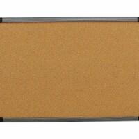 Iceberg Cork Board 36x24,Charcoal Frame  35037 - 1