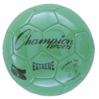 Champion Sports CHSEX5GNBN Soccer Ball Size 5 Composite, Green - Pack of 2 - 2