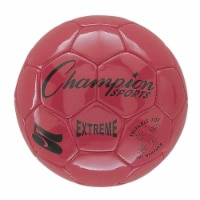 Champion Sports CHSEX5RDBN Soccer Ball Size 5 Composite, Red - Pack of 2