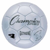 Champion Sports CHSEX4SLBN Soccer Ball Size 4 Composite, Silver - Pack of 2 - 2