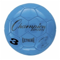 Champion Sports CHSEX3BLBN Soccer Ball Size 3 Composite, Blue - Pack of 2