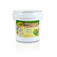Crayola BIN571353BN 1 lbs Bucket Modeling Clay, White - Pack of 4
