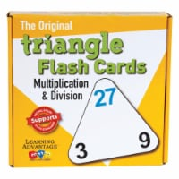 Learning Advantage CRE4552BN Multiplication & Division Triangle Flash Cards - Pack of 3 - 3