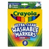 Crayola BIN7208BN Wedge Tip Washable Markers - Box of 6