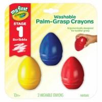 Crayola BIN811450BN My First Crayola Washable Palmgrasp Crayons - Pack of 3