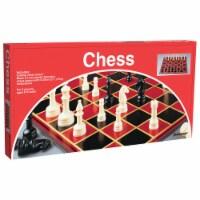 Pressman Toys PRE112412BN Black & Ivory Plastic Staunton Chess - Pack of 6 - 6