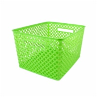 Romanoff Products ROM74215BN Large Lime Woven Basket - Pack of 3 - 3