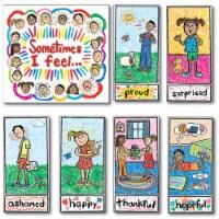 Carson Dellosa CD-3250BN Kid-Drawn Emotions Bulletin Board Set - Set of 2