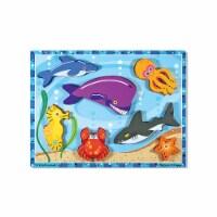 Melissa & Doug LCI3728BN 3 Each Sea Creatures Chunky Puzzle