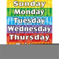 Teacher Created Resources TCR7608BN 6 Each Days of the Week Chart - 1