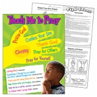 Trend Enterprises T-38704BN 17 x 22 in. 6 Piece Teach Me to Pray Learning Chart - 6