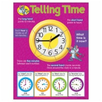 Trend Enterprises T-38014BN 17 x 22 in. 6 Piece Telling Time Learning Chart - 6