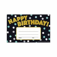 Trend Enterprises T-81086BN 5.5 x 8.5 in. I Love Metal Birthday Recognition Awards, Pack of 6