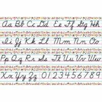 Teacher Created Resources TCR8764BN Colorful Vibes Confetti Cursive Writing Bulletin Board Di
