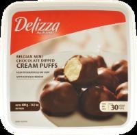 Delizza Belgian Mini Chocolate Dipped Cream Puffs 30 Count
