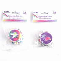 DDI 2340331 3'' Unicorn Party Cupcake Liners - 24 Pack - Assorted Case of 36 - 1