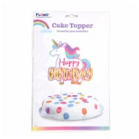 DDI 2340329 Happy Birthday Unicorn Cup Cake Topper Case of 36 - 1