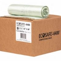 Ecosafe-6400 Trash Bag,35 gal.,Green,PK90  HB3348-8 - 1