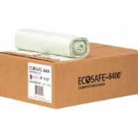 Ecosafe-6400 Trash Bag,45 gal.,Green,PK80  HB3955-8 - 1
