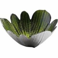 Godinger 44476 Green & Silver Pedal Bowl