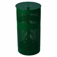 Mutt Mitt 2800 Waste Can with Lid, Green - 1