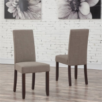 Atlin Designs Parson Dining Chair in Mocha (Set of 2) - 1
