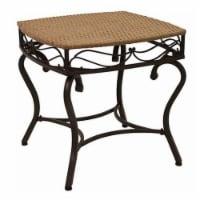Pemberly Row Patio Side Table in Honey Pecan