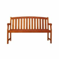 Wood Outdoor Bench in Brown-Pemberly Row - 1