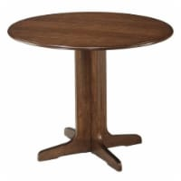 Bowery Hill Round Wood Dining Table in Brown - 1
