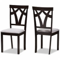 Baxton Studio Sylvia Dining Side Chair in Gray and Brown (Set of 2) - 1