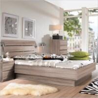 Wood Scottsdale 2 PC Full Platform Bed Set in Truffle Brown-Tvilum - 1