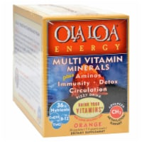 Ola Loa Products Energy Multi Vitamin - Orange - 30 Packet - Case of 1 - 30 PKT each