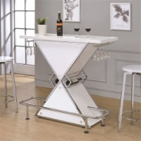 Stonecroft George Contemporary Stacked Triangle Home Bar in Glossy White - 1