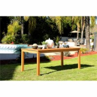 Stonecroft Furniture Nathan Eucalyptus Wood Outdoor Dining Table in Brown - 1