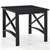 Pemberly Row Metal Patio End Table in Oiled Bronze