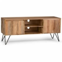 Allora Solid Wood 60  TV Media Stand in Natural - 1