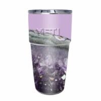 MightySkins CF-YEPINT16SI-Amethyst Agate Carbon Fiber Skin for Yeti Rambler 16 oz Stackable C