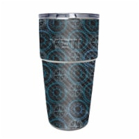 MightySkins CF-YEPINT16SI-Compass Tile Carbon Fiber Skin for Yeti Rambler 16 oz Stackable Cup - 1