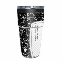 MightySkins CF-YEPINT16SI-Composition Book Carbon Fiber Skin for Yeti Rambler 16 oz Stackable