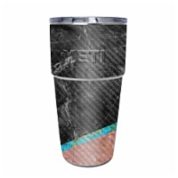 MightySkins CF-YEPINT16SI-Cut Marble Carbon Fiber Skin for Yeti Rambler 16 oz Stackable Cup - - 1