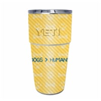 MightySkins CF-YEPINT16SI-Dogs Over Humans Carbon Fiber Skin for Yeti Rambler 16 oz Stackable - 1