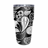 MightySkins CF-YEPINT16SI-Drops Carbon Fiber Skin for Yeti Rambler 16 oz Stackable Cup - Drop - 1