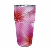 MightySkins CF-YEPINT16SI-Flowers Carbon Fiber Skin for Yeti Rambler 16 oz Stackable Cup - Fl