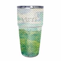 MightySkins CF-YEPINT16SI-Green Wheat Fields Carbon Fiber Skin for Yeti Rambler 16 oz Stackab - 1