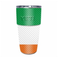 MightySkins CF-YEPINT16SI-Irish Flag Carbon Fiber Skin for Yeti Rambler 16 oz Stackable Cup -