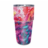 MightySkins CF-YEPINT16SI-Paint Party Carbon Fiber Skin for Yeti Rambler 16 oz Stackable Cup - 1