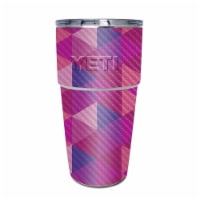 MightySkins CF-YEPINT16SI-Pink Kaleidoscope Carbon Fiber Skin for Yeti Rambler 16 oz Stackabl