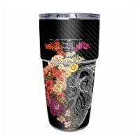 MightySkins CF-YEPINT16SI-Spring Heart Carbon Fiber Skin for Yeti Rambler 16 oz Stackable Cup - 1