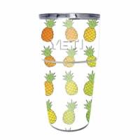 MightySkins YEPINT16SI-Rainbow Pineapples Skin for Yeti Rambler 16 oz Stackable Cup - Rainbow - 1