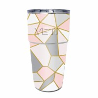MightySkins YEPINT16SI-Rose Gold Polygon Skin for Yeti Rambler 16 oz Stackable Cup - Rose Gol - 1